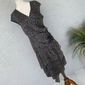 • Cynthia Steffe • Designer • Midi Faux Wrap Dress